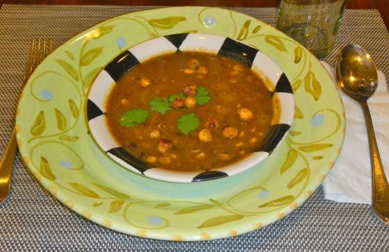 Leaning Into Veganism…..Vegan Pumpkin Black Bean Soup