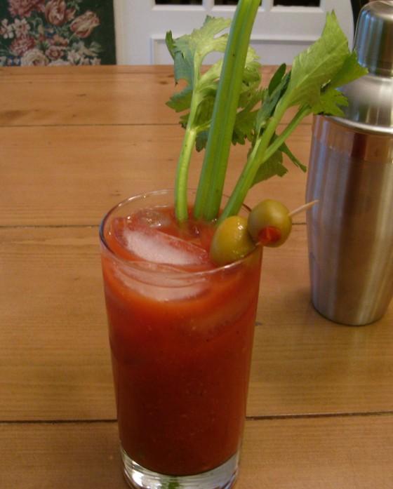 Vegan Sriracha Bloody Mary
