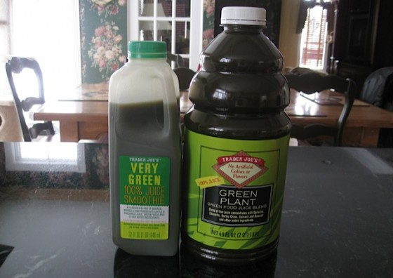 Trader Joe's Very Green 100% Juice Smoothie And Trader Joe's Green Plant Juice
