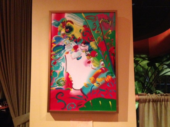 Peter Max artwork in Sublime Restaurant