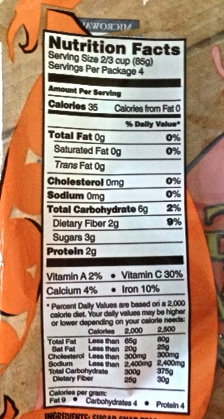 Nutrition Facts of Trader Joe's Sugar Snap Peas