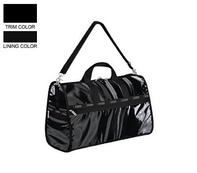 LeSportsac Large Weekender in Black Patent