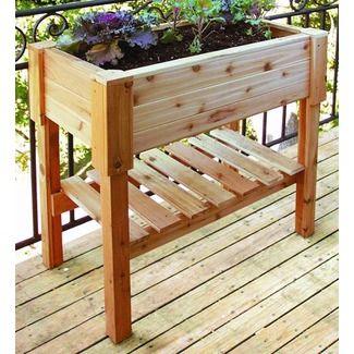 Cedar Raised Container Garden