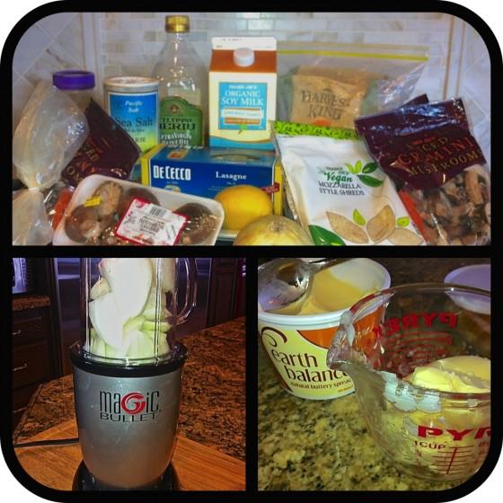 Ingredients, Mincing Onions, Measuring Vegan Margargine