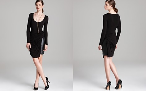 Bailey 44 Faux Leather Panel Dress-How Do I Love Thee? ($211.00)