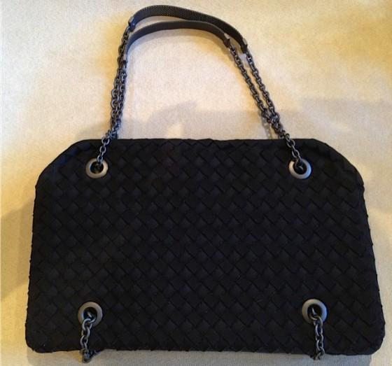 Bottega Veneta's Eco-Friendly Intrecciato Duo-Compartment Shoulder Bag