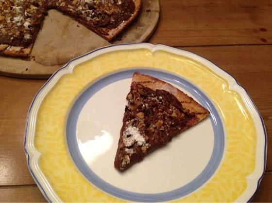 Chocolate Hazelnut Pizza…Decadent, Simple & Vegan