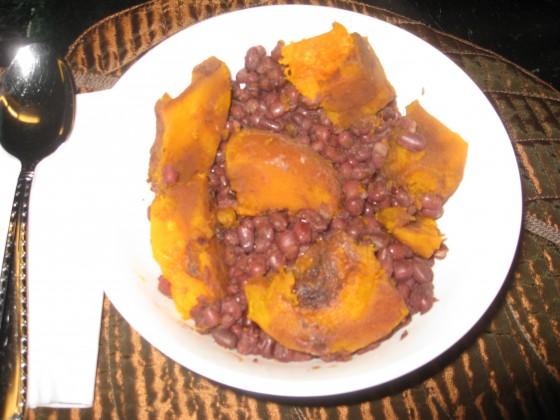 Azuki Beans With Kabocha Squash