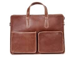 Matt & Nat Vegan Soren Briefcase in Cognac