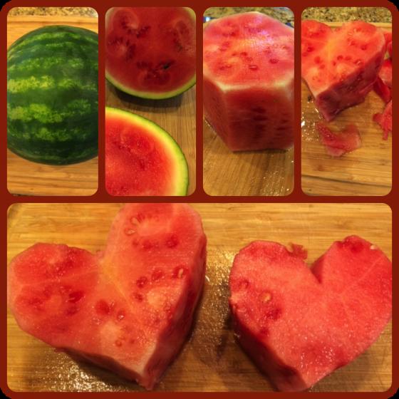 heart-shaped watermelon cake 2
