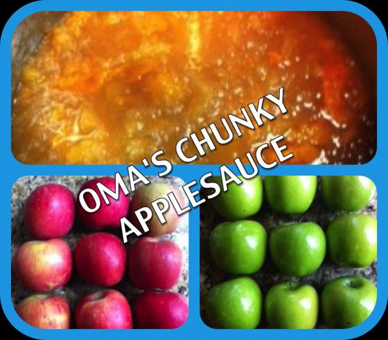 vegan american princess Roma's chunky applesauce