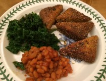 Candle Cafe's Cornmeal-Crusted Tempeh