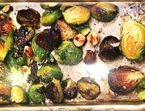 "Chloe Coscarelli's Maple-Roasted Brussel Sprouts From The Cookbook ""Chloe's Kitchen"""