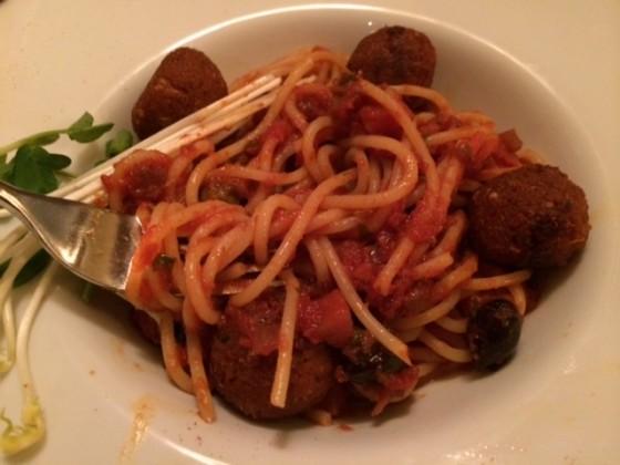 Organic Spaghetti & Veatballs (Manna, London)