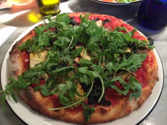 """Vegan """"Pianta"""" at Pizza Express, London"""