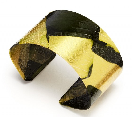 Ribbon Cut Harlequin Patterned Zucchini Vegetable Cuff from Uncommon Goods
