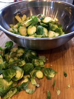 Brussels Sprouts Caesar Salad (vegan)