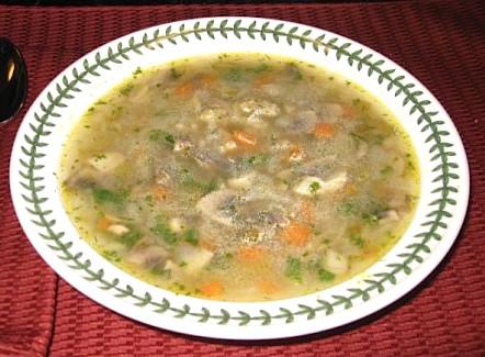 The Beat Vegan Mushroom Barley Soup