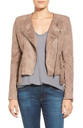 Faux Suede Moto Jacker with Fringe by Love Fate Destiny (V)