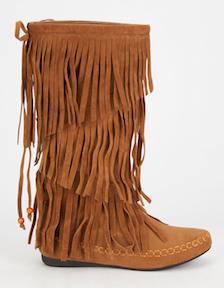 Adriana Mudd Women's Tall Fringe Mocassin Boots
