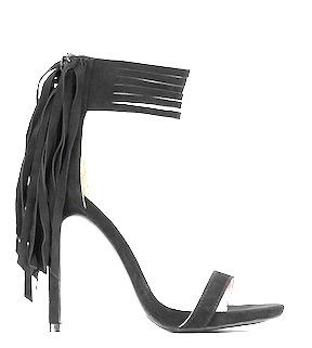 Everly Fringe Ankle Strap Heels by Tobi
