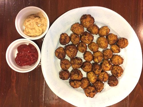 Baked Cauliflower Tots (Vegan)