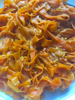 carrot ribbon pasta