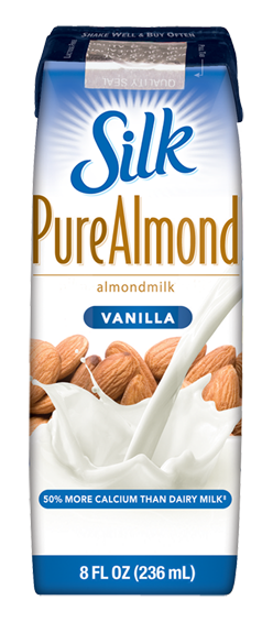 Single Serving Container of Silk Almond Milk