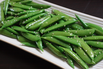 Sesame Toasted Sugar Snap Peas