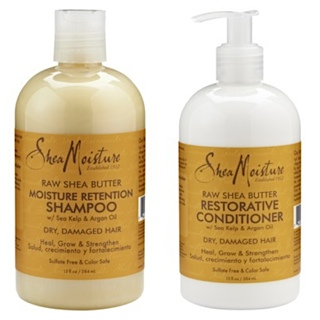 Shea Moisture Raw Shea Butter Moisture Retention Shampoo & Restorative Conditioner