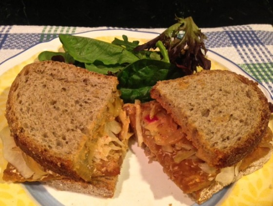Hearty Tempeh Reuben Sandwich