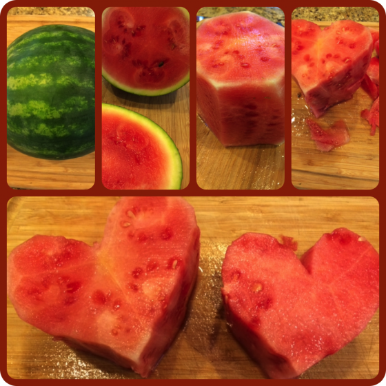 heart-shaped watermelon cake 2