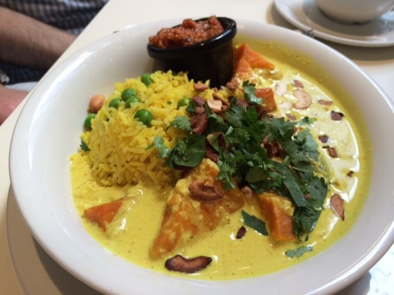 Sri Lankan Sweet Potato & Cashew Nut Curry (Mildred's, London)