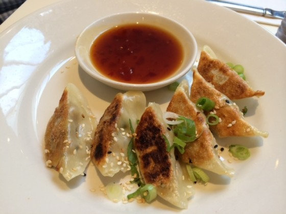 Gyoza Dumplings With Soya Sweet Chili Dipping Sauce (Mildred's, London)