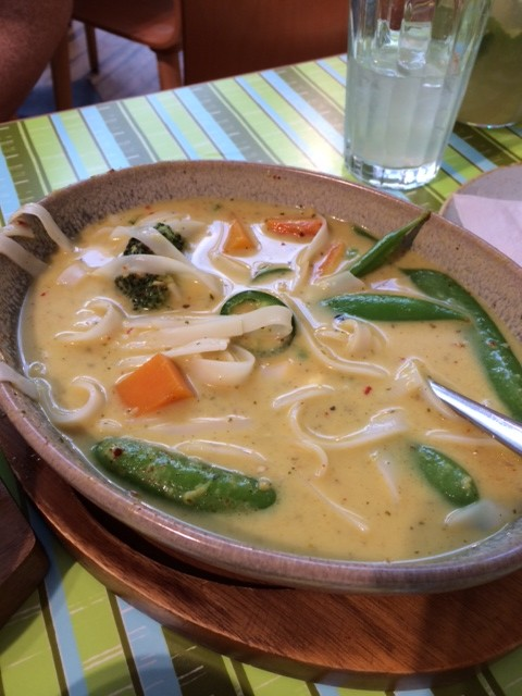 Yasai Itame (vegetables + noodles in coconut broth) from Wagamama in Heathrow Airport