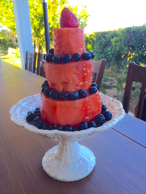 3-Tiered No-Bake Watermelon Cake