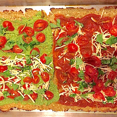 Cauliflower Crust Pizza: Vegan and Gluten Free