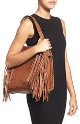Fringe Faux Leather Hobo by Big Buddha (V)