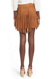 Fringe Faux Suede Skirt by Jolt (V)