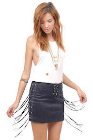 Twang and Slang Mini Skirt by Tobi
