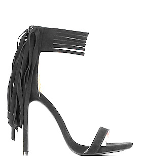 Everly Fringe Ankle Strap Heels by Tobi