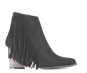 Tilt Fringed Ankle Booties by Tobi (V)